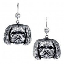 SHIH TZU TRIMMED MALE EARRINGS #ER-20B  | These earrings are available in all breeds! | Retail Price: $99.95 | 925 Sterling Silver | Each earring has a small bezel set CZ on top of the dog bead. Please note that these earrings can be special ordered in 10k, 14k or 18k gold. Hand-crafted in the USA, Available at ANDREW GALLAGHER JEWELERS, Newark, DE 302-368-3380. We Ship!