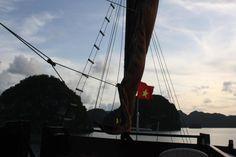 Life doesn't get much better...relaxing aboard a junk in Vietnam