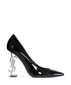 SECRETSALES, Discount Designer Clothes Sale Online - Women's Opyum black leather logo heels