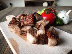 Jerk Jamaican Pork #jamaicanfood #jerkpork Island Food, Jamaican Recipes, My Recipes, Steak, Pork, Tasty, Pork Roulade, Pigs, Jamaican Food Recipes