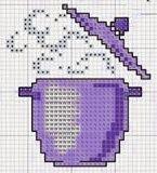 Pentola - punto croce - cross Stitch - Kreuzstich - Punto de Cruz Cross Stitching, Cross Stitch Embroidery, Cross Stitch Patterns, Pixel Crochet, Cross Stitch Kitchen, Beaded Crafts, Baby Dragon, Pretty Wallpapers, Pixel Art