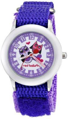 Red Balloon Kids' W000334 Love Owl Stainless Steel Time Teacher Purple Velcro Strap Watch - List price: $29.99 Price: $23.99 Saving: $6.00 (20%)