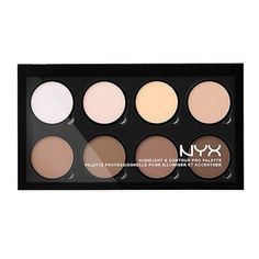 NYX Professional Make-Up Highlight & Contour Pro Professional Palette Nyx Highlighter, Bronzer, Nyx Makeup, Makeup Kit, Face Makeup, Airbrush Makeup, Makeup Bags, Highlight And Contour Palette, Contour Kit