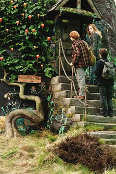 Ron Weasley (Rupert Grint), Hermione Granger (Emma Watson), Harry Potter (Daniel Radcliffe) - Harry Potter and the Prisoner of Azkaban