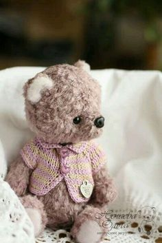 Artist Bears and Handmade Teddy Bears - Thousands of collectable bears from teddy bear artists around the world. My Teddy Bear, Cute Teddy Bears, Teddy Toys, Love Bear, Bear Doll, Vintage Gifts, Handmade Toys, Art Dolls, Cute Creatures