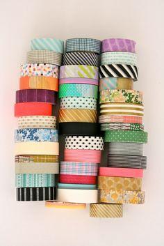 Masking Tapes - lots of them - by BLINKBLINK*, via Flickr