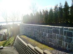 Mur de soutien pour aménagement paysager à Québec Portugal, Railroad Tracks, Sidewalk, Landscape Fabric, Landscape Planner, Side Walkway, Sidewalks, Pavement, Walkways