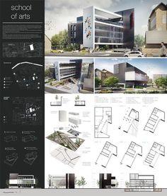 School Of Arts Project ?? . _____________________________________________ ...  #Arts #Project #School #Arte Gráfico #Artesanías De Navidad #Buenos Dias Frases ? Poster Architecture, Concept Board Architecture, Architecture Design, Plans Architecture, Architecture Presentation Board, Architecture Portfolio, Sustainable Architecture, Landscape Architecture, Presentation Boards