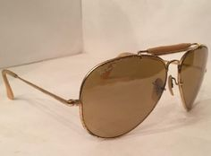 Vintage B&L Ray Ban The General 50th Anniversary 62[]14 Aviators Sunglasses USA
