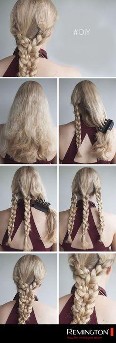 ¡Prepárate para arrancar miradas con este sencillo DIY! En cuestión de minutos lucirás bellísima. #hair #haiestyle #braid #cool #woman #style #DIY