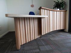 Image result for bent plywood reception desk