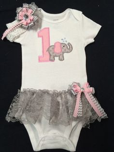 A personal favorite from my Etsy shop https://www.etsy.com/listing/241490185/baby-girl-monogramed-birthday-elephant