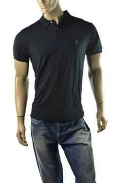 POLO Ralph Lauren Polo Shirt Mens Sueded Cotton Custom Fit Size L NEW #RalphLauren #PoloRugby