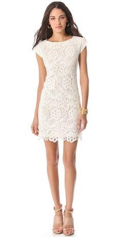 Simplicity is so beautiful! - Rebecca Taylor Ali Lace Dress | SHOPBOP