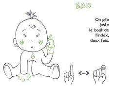 EAU Baby Sign Language, Signs, Kids House, Doll Patterns, Baby Dolls, Parenting, Comics, Montessori, Future Maman