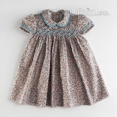Foto: Vestido de niña bebé, vestido bordado con nido de abeja ...