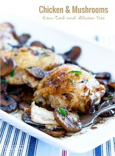 This easy skillet chicken & mushrooms recipe is low carb, egg free, dairy free, nut free, Paleo and even Whole 30 approved! Not to mention…