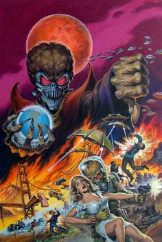 Mars Attacks by Earl Norem, finally saw it and of course was in love with Jack. Worth the laughs.