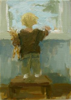 Malie Baehr - Uit het raam kijken Painting For Kids, Art For Kids, Original Artwork, Original Paintings, Cow Pictures, Window Art, Branding, Palette, Collage