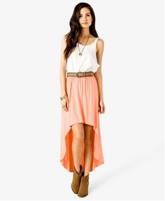 i am just in love with high low skirts <3
