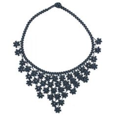 Midnight Crochet Lace Collar Necklace