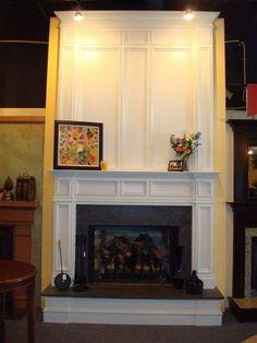 Raised Hearth Fireplace Mantel … | Home decor | Pinterest ...