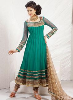 Enchanting net anarkali suit