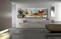 SUCCULENTES jardin mosaïque murale art - faite à ordre-patio décor mosaïque mur art vitraux mosaïques décor de mur intérieur ou extérieur