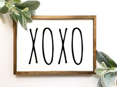 Rae Dunn Sign, Rae Dunn XOXO Sign, Rae Dunn Inspired Sign, Valentine's Day Sign, Farmhouse Sign, Fixer Upper Style, Love, Valentine's day by TheMacadamiaShop on Etsy https://www.etsy.com/listing/505952241/rae-dunn-sign-rae-dunn-xoxo-sign-rae