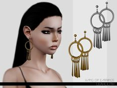 Hang On Earrings by LeahLillith - Sims 3 Downloads CC Caboodle  Check more at http://customcontentcaboodle.com/hang-on-earrings-by-leahlillith/