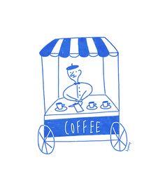 Coffee - 일러스트레이션 · 파인아트, 일러스트레이션, 파인아트, 일러스트레이션, 파인아트