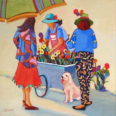 Brisk Business-Painting by Carolee Clark