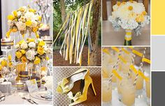 Gray & Yellow Wedding Inspirations   Lulus Event Design