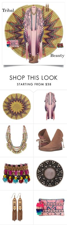 """""""Tribal Beauty"""" by shoecraycray ❤ liked on Polyvore featuring Roberto Cavalli, sanuk, Etro, NOVICA, Fiona Paxton and Figue"""