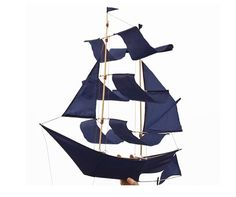 The Sailing Ship Kite of bamboo and nylon is made by architect Emily Fischer's Haptic Lab of Brooklyn in collaboration with Balinese artisans. It comes with kite twine and easy assembly instructions; $40 via Haptic Lab.