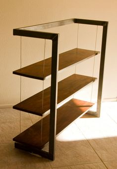 Modern Industrial Suspended Bookshelf Bookcase by taydiggs on Etsy, $895.00