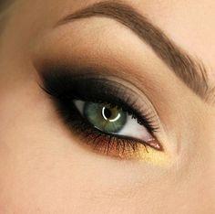 Makeup Geek Eyeshadows in Casino, Desert Sands, Latte, Roulette, Sin City, and Vanilla Bean. Look By: Gajewska.wiktoria