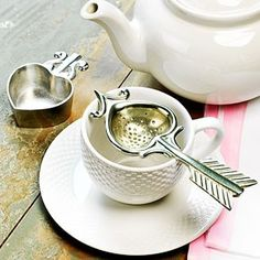 Nice Valentines Day gift!  Heart Tea Strainer <3