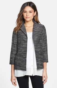 Eileen Fisher Striated Wing Collar Jacket (Regular & Petite) available at #Nordstrom