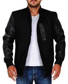 Michael B. Michael B Jordan, Black Bomber Jacket, Knitting Designs, Jordans, Celebs, Blazer, Sleeves, Jackets, Celebrity