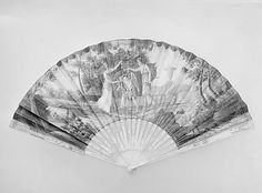 fan  early 19th century  ivory parchment  french