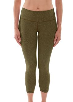 "Amazon.com: 90 Degree By Reflex 22"" Yoga Capris Heather Hunter Green XS…"