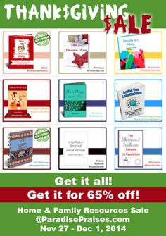 Every digital resource from Paradise Praises on sale in an amazing bundle for 65% off. Including Melk, the Christmas Monkey, 2015 elephant planner, and Putting on the Spirit: 10 Minute Devotions for Busy Moms to name just a few. Grab this bundle beginning 11/27 through 12/1. Affiliate program available!