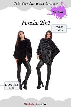 Poncho donna coprispalle mantella sciarpa eco pelliccia morbido double face  S2. Poncho in ecopelliccia fe9cea436d4