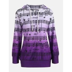 Musical Notes Printed Ombre Kangaroo Hoodie Cheap Fashion online retailer providing customers trendy and stylish clothing including different categories such as dresses, tops, swimwear. Hoodie Sweatshirts, Printed Sweatshirts, Sweat Shirt, Jugend Mode Outfits, Teen Fashion Outfits, Ladies Fashion, Men Fashion, Clothes For Women, Cool Clothes