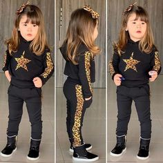 Leopard Star Cotton T-shirt Tops Pants Suit Newborn Baby Girl Clothes Ropa Niña Toddler Boys Casual Sport Clothing Long Sleeve Trouser Outfits, Pants Outfit, Outfit Sets, Baby Girl Fashion, Toddler Fashion, Fashion Kids, Sport Outfits, Girl Outfits, Leopard Outfits