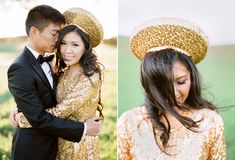 Traditional Vietnamese Bride and Groom - Once Wed Hmong Wedding, Ao Dai Wedding, Wedding Groom, Bride Groom, Traditional Vietnamese Wedding, Traditional Wedding, Bridal Dresses, Wedding Gowns, Once Wed