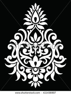 Find Traditional Indian Motif stock images in HD and millions of other royalty-free stock photos, illustrations and vectors in the Shutterstock collection. Stencil Patterns, Stencil Painting, Stencil Designs, Fabric Painting, Folk Embroidery, Hand Embroidery Designs, Embroidery Patterns, Motifs Islamiques, Alpona Design