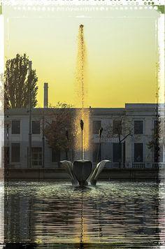 fontanna przy białej fabryce  fot. Marcin Wasilewski