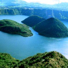 Laguna de Cuicocha, Cotacachi, Imbabura, Ecuador.